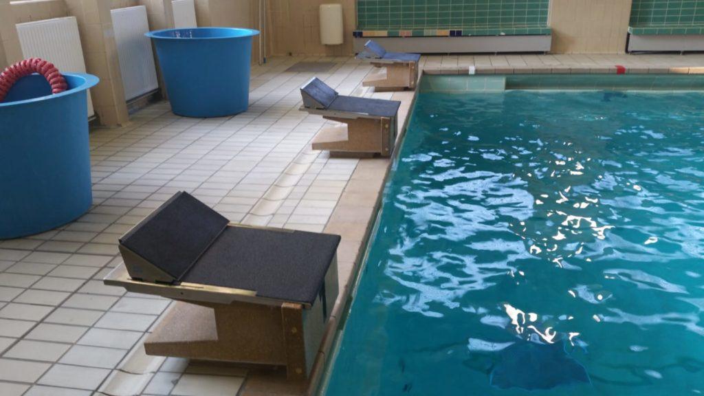Trackstartsysteme und Rückstarthilfen Schwimmbad